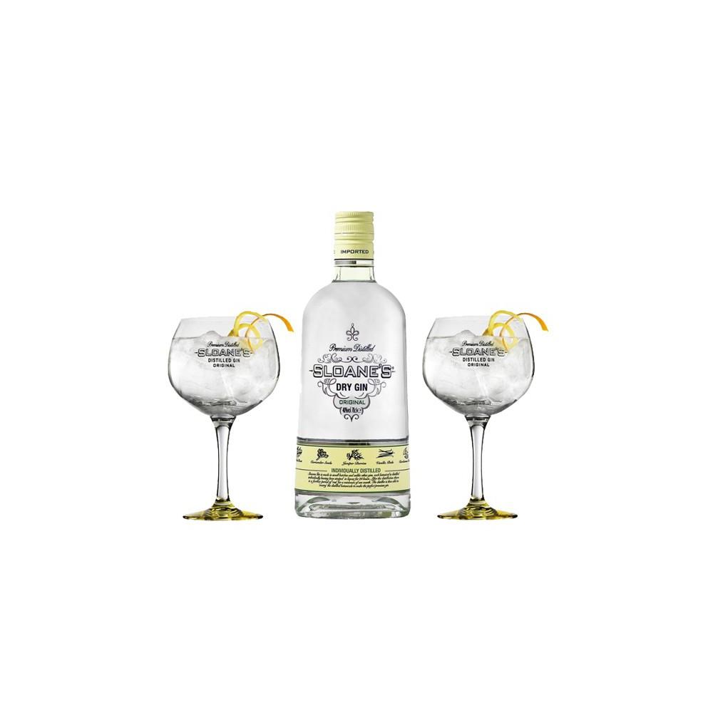 Ginebra Sloane's GIN (Estuche Botella + 2 Copas)