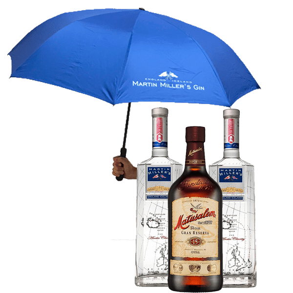 Martin Miller's VS Matusalem 15 Años (3 Botellas + Paraguas)