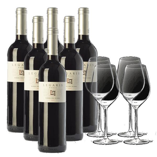 Legaris Roble (6 Botellas + Copas)